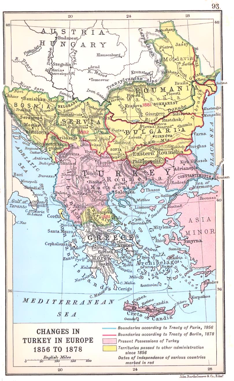 Historyczna mapa Bałkanów